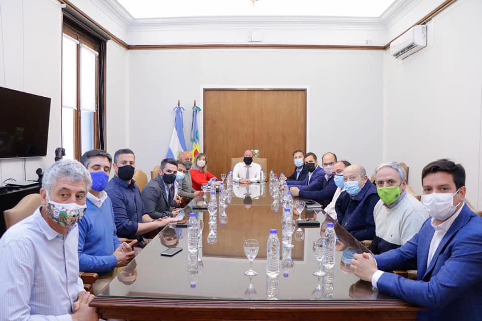 el jefe de Gabinete bonaerense recibió a los jefes comunales de la Quinta Sección